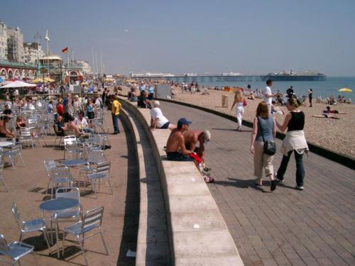 Brighton beach promenade